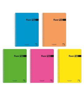 Cuaderno cuarto 4x4 80h 90grs fluorpac pacsa 16552