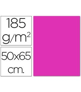 Cartulina 50x65cms 25h 185grs fucsia guarro 200040226