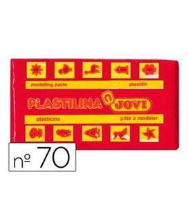 Plastilina 50 grs roja jovi 70/05