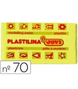 Plastilina 50 grs amarilla clara jovi 70/02