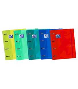 Carpeta clasificadora 4 anillas a4 +recambi european touch oxford 400136667 - 65128