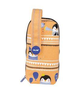 Estuche con pinturas y rotuladores 4 estuches party time naranja milan 08872pyo - 08872PYO