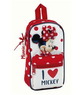 Estuche con pinturas y rotuladores mochila 4 estuches minnie mouse safta 411748747 - 411748747