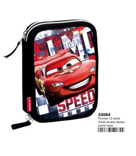 Estuche con pinturas y rotuladores doble cars acceleration montichelvo 52084 - 52084