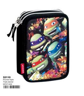 Estuche con pinturas y rotuladores triple tortugas ninjas montichelvo 52110 - 52110