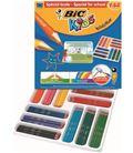 Pintura madera surtidos pack 144u (12 colores distintos) evolution bic 8878