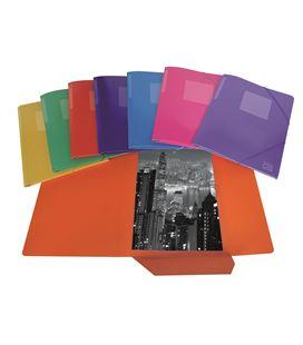 Carpeta gomas solapa folio colores surtidos mattio 3002