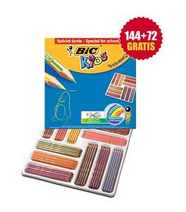 Pintura madera schoolpack 216 uds tropicolors 2 bic