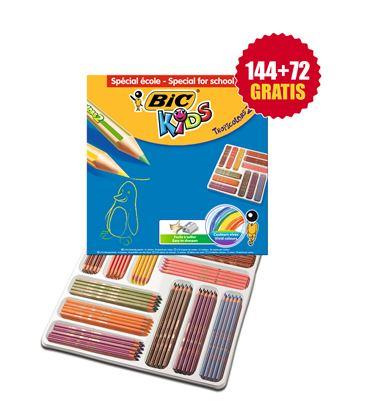 Pintura madera schoolpack 216 uds tropicolors 2 bic - 114158