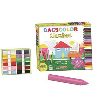 Ceras schoolpack 288 uds. (24 uds.x12 colores) dacscolor alpino dc000016 - 111397