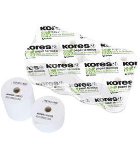 Papel termico rollo 57x40 10 unidades s/bisf kores grafolioplas 56654200 - 56654200