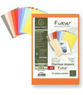Subcarpeta a4 170gr 100 unidades colores surtidos exacompta 42000e