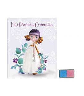 Libro comunion huellas + tampom niña hojas arguval 44049 - 44049