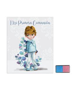 Libro comunion huellas + tampom niño hojas arguval 44050 - 44050