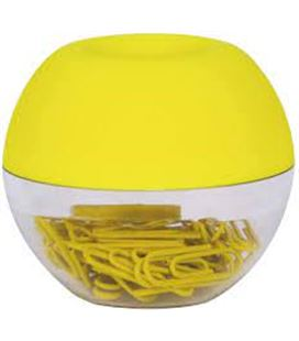 Porta clips fluor collection amarillo +clips apli 18428 - 18428