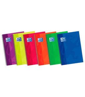 Cuaderno espiral fº 4x4 80h 90grs t/e/d colores oxford 100430275 - 08640