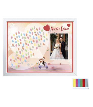 Marco foto comunion + lamina para huellas y foto + tampones a3 arguval 4194 - 41944