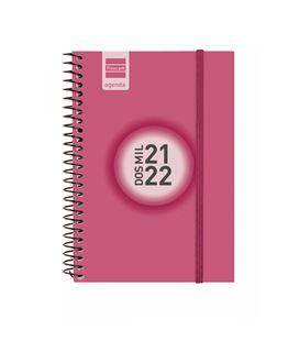 Agenda escolar 21/22 e8 semana vista color rosa finocam 630524522 - 630524522