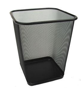 Papelera cuadrada metalica rejilla negra 3605rn - 14401152