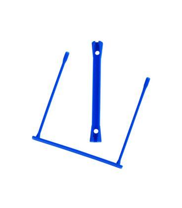 Encuadernador fastener plastico d-clips azul 100 und q-connect kf02282 4297 - 42976