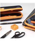 Estuche con pinturas y rotuladores kit basico negro camuflaje milan 08871bm - 08871BM-3