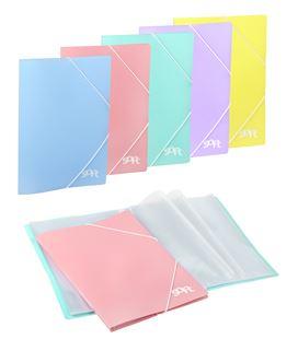Carpeta 30 fundas gomas rosa pastel soft carchivo 50613025