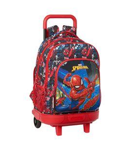 """Mochila gde. c/ruedas compact extraible spider-man """"go hero"""" safta 61214398 - 612143918"""