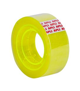 Cinta adhesiva 19mmx20m transparente fluo apli 18146 - 18146-1