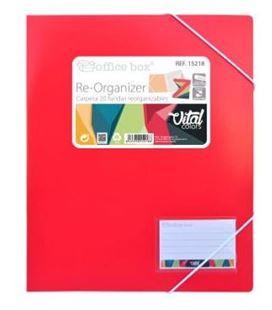 Carpeta 20 fundas re-organizer vital colors officebox 15218 - 15218-2
