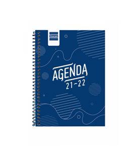 Agenda escolar 21/22 1/8 semana vista cool azul finocam 645000122 - 645000122