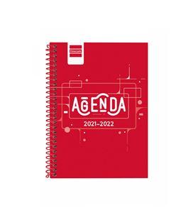 Agenda escolar 21/22 1/8 semana vista cool rojo finocam 645000222 - 645000222