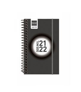 Agenda escolar 21/22 e3 semana vista label negro finocam 632006022 - 632006022