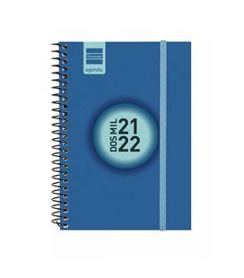 Agenda escolar 21/22 e8 semana vista label azul cob+ finocam 633481522 - 633481522