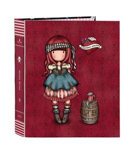 Carpeta fº 4 anillas lomo ancho gorjuss™ pirates mary rose safta 522119657 - 522119657
