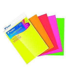 Cartulina a4 10h colores fluorescentes sadipal 15429 - 15429