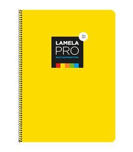Cuaderno fº 3mm 100h 90grs tapa extra dura amarilla lamela 7fte103am - 7FTE103AM