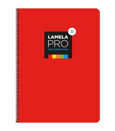 Cuaderno fº 3mm 100h 90grs tapa extra dura roja lamela 7fte103r - 7FTE103R