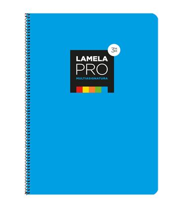 Cuaderno fº 3mm 100h 90grs tapa extra dura azul lamela 7fte103a - 7FTE103A