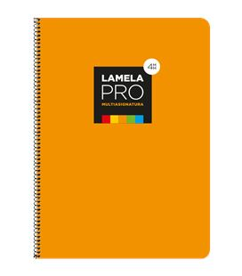 Cuaderno fº 4mm 100h 90grs tapa extra dura naranja lamela 7fte104n - 7FTE104N