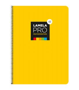 Cuaderno fº 4mm 100h 90grs tapa extra dura amarilla lamela 7fte104am - 7FTE104AM