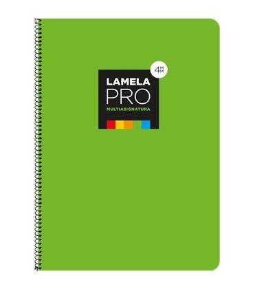 Cuaderno fº 4mm 100h 90grs tapa extra dura verde lamela 7fte104v - 7FTE104V
