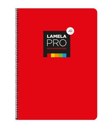 Cuaderno fº 4mm 100h 90grs tapa extra dura rojo lamela 7fte104r - 7FTE104R