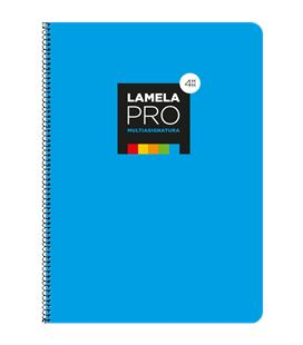 Cuaderno fº 4mm 100h 90grs tapa extra dura azul lamela 7fte104a - 7FTE104A