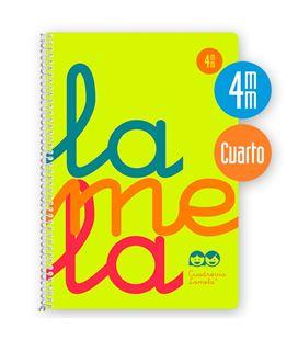 Cuaderno 4º 4mm 80h 90g tapa plastic amarillo fluor lamela 7ctp004a - 7CTP004A