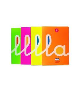 Cuaderno a4 4mm 50h 70g cuadrovia t.plastic fluor surtido lamela 06a4p04 - 68100