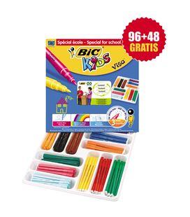 Rotuladores colores schoolpack 144 uds. (12 colores) visa bic - 114224