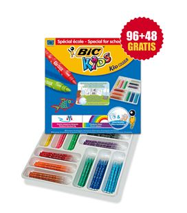 Rotuladores colores bic kid couleur schoolpack 144 uds. - 114430