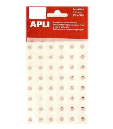 Arandela autoadhesiva translucidas 13mm b/240 apli 00229 - 111200