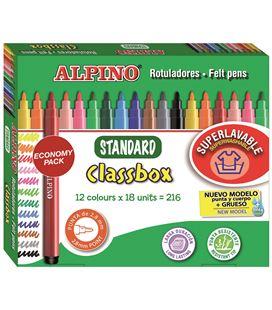 Rotuladores colores schoolpack 216 uds.(12 colores) stanard alpino ar000108 - 114191