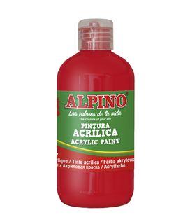 Pintura acrilica botella 250 ml rojo alpino dv000024 - 111552